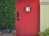 Red Door With a Note