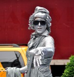 Silver Lady in New York City