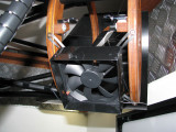 120mm fan to prevent dew on the secondary