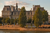 Hotel de Ville at Sunset View From Seine