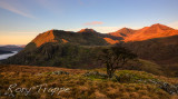 Sunrise over the Snowdon range.