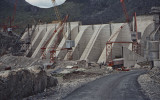 Stwlan dam construction 1961
