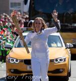 Olympic torch at Blaenau Ffestiniog