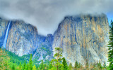 El Capitan and Horse Tail Falls Yosemite