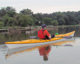 Three kayaks like this one were available - 15.5 feet long and 50 lbs.