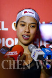 World women's squash champion: Nicol David (Malaysia)