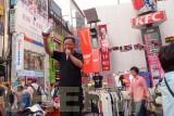 Street vendors in Myeongdong