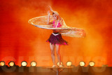 Hoops swaying in a performance by Shanghai acrobat