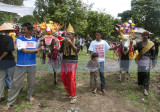 Villages with their ceremonial bulls arriving