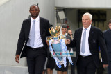 Patrick Viera brings in the EPL trophy