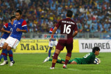 GK Mohd Farizal Marlias picks off a low cross