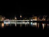 Zurich by Night along the Limmat River