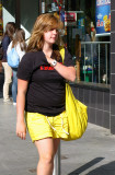 Street life in yellow. Exeter, UK