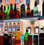 The beautiful Venice through the bottles...