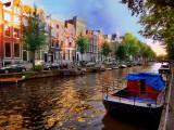Amsterdam: golden twilight
