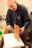 Father making some duck boards