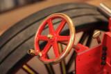 Painted steering wheel in place