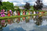 Costumes de Venise aux Jardins d'Annevoie (Belgique)