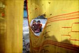 The torn Sari