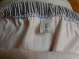 Eyelet Knit Skirt Inside Waistband with Ribbon Tag at Center Back