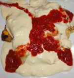 Canole Smothered In Creme Cheese