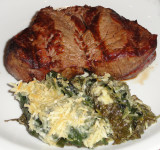 Argentine Steak with Spinach Casserole