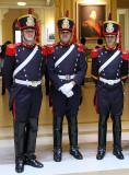 Presidential Guards inside of Casa Rosada