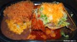 Pork Tamale, Beef Taco & Tostada