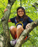 Emma in the tree