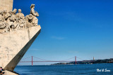 Monument to the Discoveries & 25th of April bridge