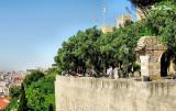 St George's  Castle sits high above Lisbon