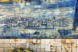 blue tile  scene in the Alfama district