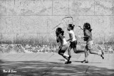 girls in a schoolyard