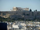 View of the Parthenon from my hotel