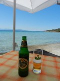 Enjoying the mediterranean in the port of Aegina