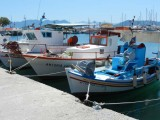 Boats that bring the produce to Aegina