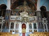 Inside the ornate church