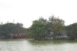 The Ngoc Son tample on the Hoan Kiem lake.