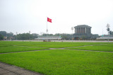 The Ho Chi Minh Mausoleum in a typical communistic style.