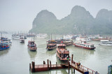 Ha-Long Bay, famous since James Bond films. 4 hours bus from Hanoi, then one to several days cruise.
