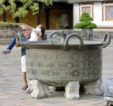 One of the many cauldrons. And a tourist wanting to drown his wife.