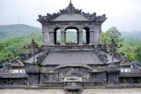 Finally the one of Khai Dinh who deceased when he was 40. As he lifted the taxes by 30% to build this tomb, people did not regret his death.
