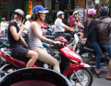 So many mopeds. You have to see them driving and crossing!