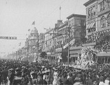 Mardi Gras on Canal Street in New Orleans in 1906