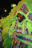 Mardi Gras Indian on St. Joseph's Day in New Orleans