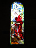Carville stained glass window in Catholic Church - healing the  blind