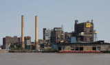 Domino Sugar Refinery as seen from the Mississippi River