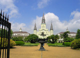 Jackson Square with St. Louis Cathedral, Cabildo and Museum
