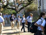 Holy Cross Boys Troop Into Girls' School
