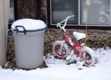 snow on the bike
